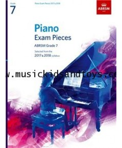 ABRSM Selected Piano Exam Pieces: 2017-2018 Grade 7 - Book Only
