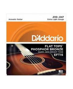D addario สายกีตาร์โปร่ง รุ่น EFT15