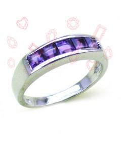 แหวนอเมทีส (พลอยสีม่วง)