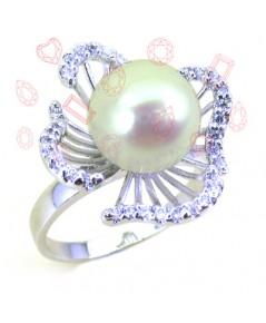 แหวนมุกสีขาว