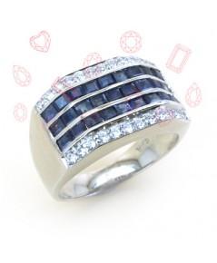 แหวนไพลิน Blue Sapphire (แหวนชาย)