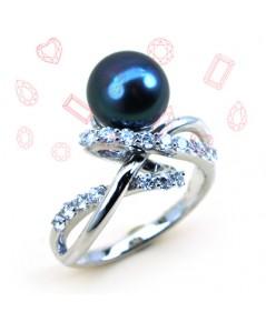 แหวนมุกสีดำ
