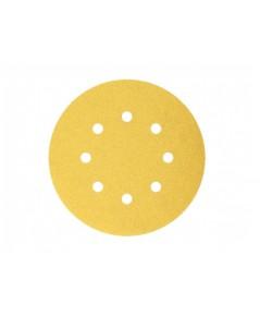 กระดาษทรายกลม5นิ้ว มีรู 8 รู หลังสักหลาด DEERFOS