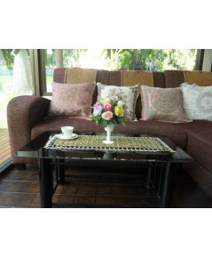ผ้าปูโต๊ะกลางโซฟาผ้าลูกไม้
