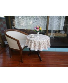 ผ้าปูโต๊ะกลมสไตล์หลุยส์วินเทจ