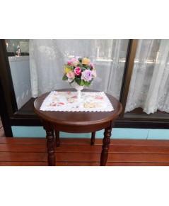 ผ้ารองแจกันดอกไม้สไตล์วินเทจ