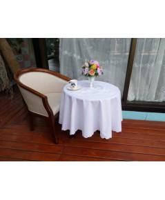ผ้าปูโต๊ะกลมสไตล์ปักฉลุ