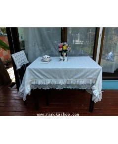 ผ้าปูโต๊ะอาหารสไตล์ผ้าลูกไม้