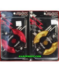 ฝาครอบโซ่ราวลิ้น MSX อลูมิเนียม 2 ชิ้น สีแดง-ดำ,ทอง-ดำ งาน SPARK