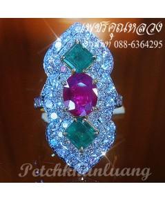 แหวนพลอยล้อมเพชร..แหวนหมั้น..แหวนแต่งงาน..ของขวัญ..ของฝาก..เพชรคัดน้ำงามเล่นไฟดีสุดสุดค่ะ**