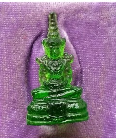พระแก้วมรกต เนื้อแก้วสีเขียว พิธี 25ศตวรรษ ปี 2500 ขนาดห้อยคอ สวยครับ