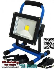 สปอร์ตไลท์แบบพกพา LED 20w แสงวอร์มไวท์ (รีชาร์จ)