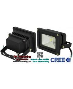 สปอร์ตไลท์ LED 12v-24v 10w แสงสีเหลือง (CREE CHIP)