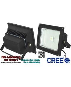 สปอร์ตไลท์ LED 12v-24v 30w แสงสีเหลือง (CREE CHIP)