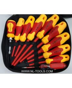 ชุดไขควงหุ้มพลาสติก 10 ตัวชุด เหมาะกับงานไฟฟ้า (เครื่องมือช่าง)(KKV)