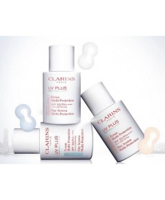 Pre-order : Clarins UV Plus Anti-Pollution SPF50/PA++++ 30ml. ~ Translucent สีโปร่งแสง