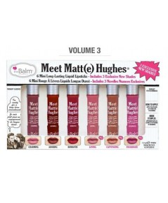 *พร้อมส่ง* The Balm Meet Matte Hughes 6 Mini Long Lasting Liquid Lipstick (Volume 3)