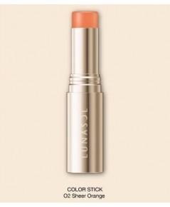 Pre-order : -25 Kanebo LUNASOL Color Stick ~ no.02 Sheer Orange ขนาดปกติ ไม่มีกล่อง