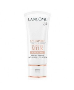 Pre-order ลด 30 เปอร์ : Lancome UV Expert Youth Shield™ Tone Up Milk SPF50 PA++++ Rosy Bloom 30ml.