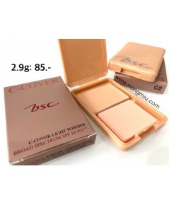 Tester : BSC C-COVER LIGHT POWDER SPF25 PA++ 2.9g. ~ สี C2 สำหรับผิวสองสี
