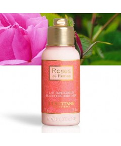 Tester : L\'Occitane ROSES ET REINES BEAUTIFYING BODY MILK 75ml.