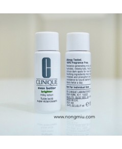 Tester : Clinique Even Better Brighter Milky Lotion 7ml.