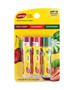 *พร้อมส่ง* เซ็ต 3 กลิ่น CARMEX Daily Care Moisturizing Lip Balm SPF15 จาก USA 4.25g x 3