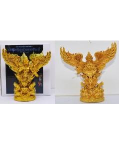 พญาครุฑเศรษฐีอนันตทรัพย์ เนื้อมหาชนวนทองจังโก้  วัดสันมะเหม้า 2562 สูง 9 ซม กว้าง 8.5 ซม.