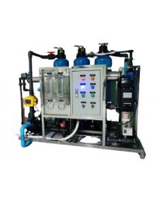 เครื่องกรองน้ำระบบRO6000 ลิตร/วัน พร้อมชุดถังกรองน้ำไฟเบอร์ปรับสภาพน้ำ แบบอุตสาหกรรม