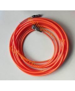 สายลม PU สีส้ม พร้อมข้อต่อและคอปเปอร์  ยาว 15 เมตร (Polyurethane)
