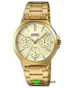 นาฬิกาข้อมือผู้หญิง Casio standard รุ่น LTP-V300G-9A ของใหม่ ของแท้