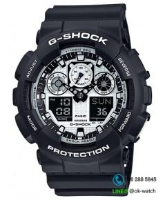 นาฬิกาผู้ชาย Casio G-Shock Limited รุ่น GA-100BW-1A ของใหม่ ของแท้