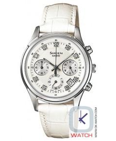 นาฬิกาผู้หญิง Casio Sheen Chronograph รุ่น SHE-5023L-7A ของใหม่ ของแท้