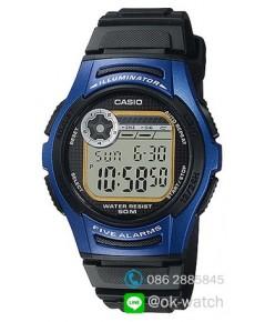 นาฬิกาผู้ชาย Casio 10 Year Battery รุ่น W-213-2AV ของใหม่ ของแท้