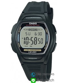 นาฬิกาผู้ชาย Casio 10 Year Battery รุ่น LW-201-1AV ของใหม่ ของแท้