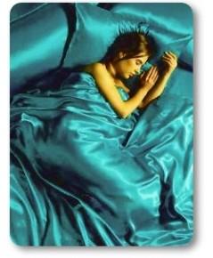 ผ้าคลุมเตียงผ้าซาตินแท้ 440 เส้น ขนาด 6 ฟุต (ขนาด 88 นิ้ว x 98 นิ้ว) สีเขียวประกายมุก