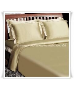 ปลอกผ้านวมผ้าไหมซาตินญี่ปุ่น ขนาด 5 ฟุต (70x90 นิ้ว) เบอร์ 7 สีทองอ่อน