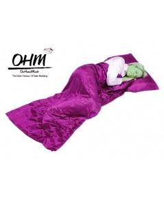 ถุงนอนเดี่ยว ผ้าซาตินแท้ 440 เส้น ขนาด  34 นิ้ว x 84 นิ้ว สีชมพูบานเย็น