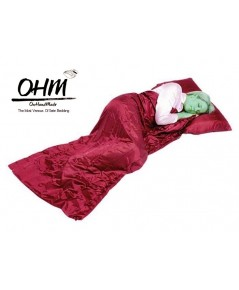 ถุงนอนเดี่ยว ผ้าซาตินแท้ 440 เส้น ขนาด  34 นิ้ว x 84 นิ้ว สีแดง