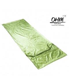 ถุงนอนเดี่ยว ผ้าซาตินแท้ 440 เส้น ขนาด  34 นิ้ว x 84 นิ้ว สีเขียวอ่อน