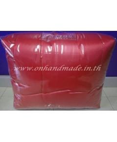 ผ้านวมคลุมเตียงไมโคร ผ้าซาตินแท้ 440 เส้น ขนาด 6 ฟุตพิเศษ (ขนาด 90 นิ้ว x 100 นิ้ว) สีแดง