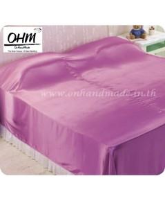 ผ้าห่มผ้าซาตินแท้ 440 เส้น ขนาด 5 ฟุต (ขนาด 60 นิ้ว x 90 นิ้ว) สีชมพูกลีบบัวหวาน