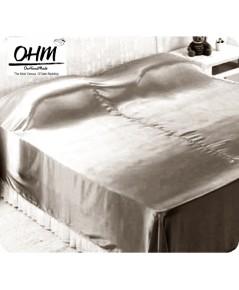 ผ้าห่มผ้าซาตินแท้ 440 เส้น ขนาด 3.5 ฟุต (ขนาด 44 นิ้ว x 90 นิ้ว) สีเทาน้ำตาลอ่อน