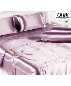 ผ้าปูที่นอนผ้าเครปซาติน 220 เส้น ขนาด 5 ฟุต 1 ชิ้น สีกะปิ