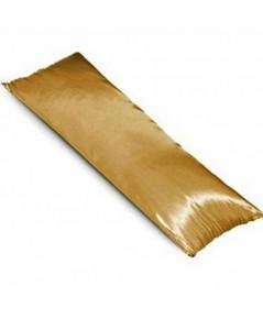 ปลอกหมอนบอดี้ ผ้าซาตินแท้ 440 เส้น ขนาด 20x48 นิ้ว เบอร์ 60 สีทองเข้ม