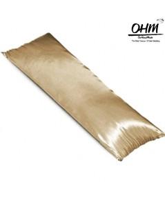 ปลอกหมอนบอดี้ ผ้าซาตินแท้ 440 เส้น ขนาด 20x48 นิ้ว เบอร์ 65 สีน้ำตาลทอง