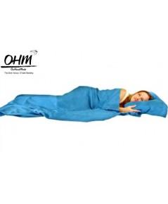 ถุงนอนเดี่ยว ผ้าซาตินแท้ 440 เส้น ขนาด  34 นิ้ว x 84 นิ้ว สีฟ้าอมเขียวอ่อน
