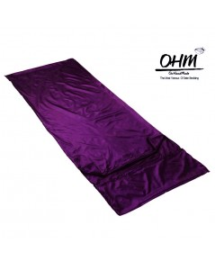 ถุงนอนเดี่ยว ผ้าซาตินแท้ 440 เส้น ขนาด  34 นิ้ว x 84 นิ้ว สีม่วงเปลือกมังคุด