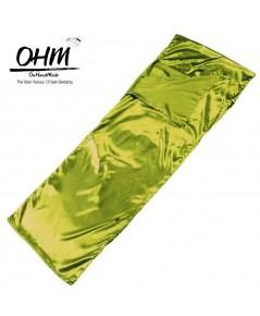 ถุงนอนเดี่ยว ผ้าซาตินแท้ 440 เส้น ขนาด  34 นิ้ว x 84 นิ้ว สีเขียวตองอ่อน