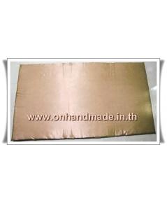 ปลอกที่นอนปิคนิคแบบซิป ผ้าซาตินแท้ 440 เส้น ขนาด 3.5 ฟุต (42 นิ้ว x 78 นิ้ว) สีทองน้ำตาลอ่อน